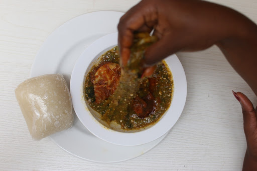 Pounded Yam and Okra Soup