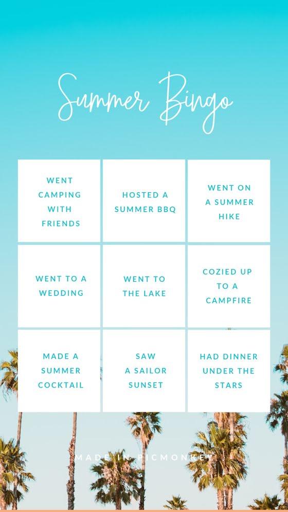 Summer Bingo - Facebook Story Template