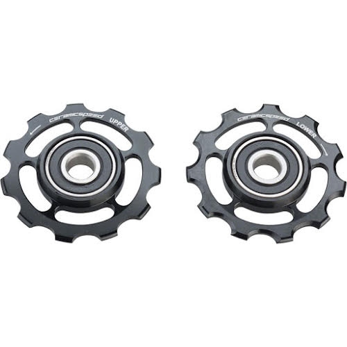 CeramicSpeed Shimano 11-speed Pulley Wheels: XT/XTR, Stainless Steel, Black