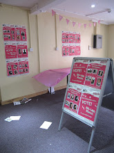 Photo: Students encouraged to vote in the student union, St. John's Campus, University of Worcester