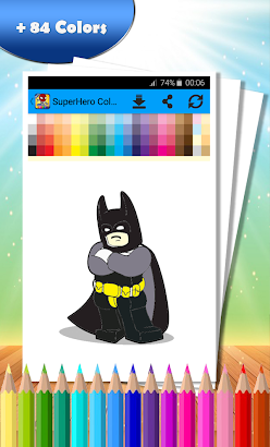 SuperHero Coloring Book screenshot
