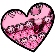 App Pink Lace Heart Keyboard Theme APK for Windows Phone