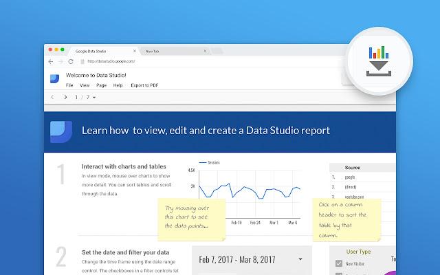 google data studio pdf export chrome web store