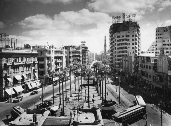 Image of a View of the downtown of Cairo (undated picture)., 01.01.1960-31.12.1969, black and white photograph, (C20th), © SZ Photo / Egon G. Schleinitz / Bridgeman Images