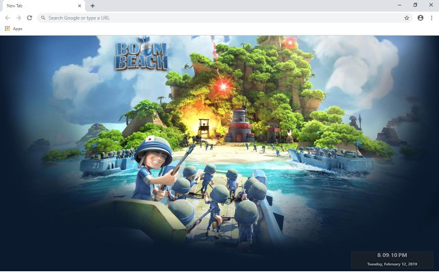 Boom Beach New Tab & Wallpapers Collection