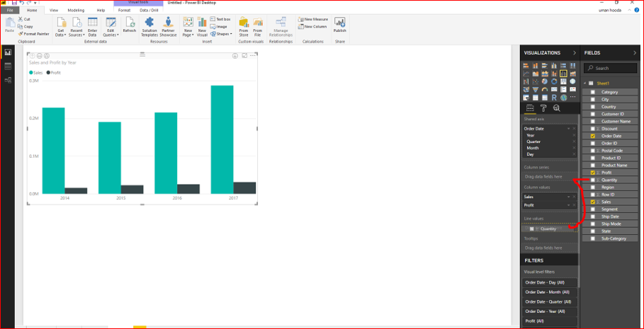 Dual Axis Chart in Microsoft Power BI - Step By Step 33