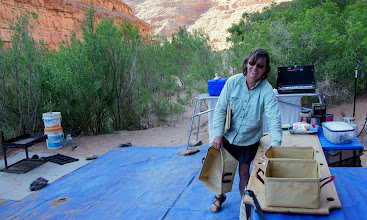 Photo: Tina, the buckets go down river. Where's the bucket brigade?