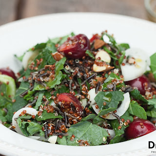Quinoa Salad with Dark Cherries and Kale