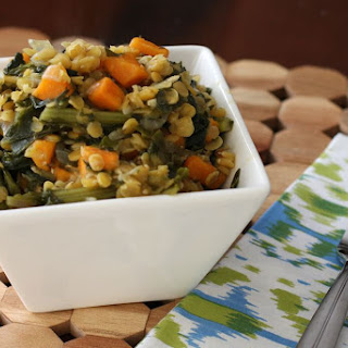 Lentils with Sweet Potatoes and Kale Recipe