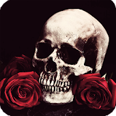 Skull And Roses Wallpaper