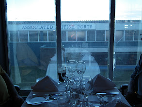 Photo: The delightful view  from our dining table on the ferry at Swansea !
