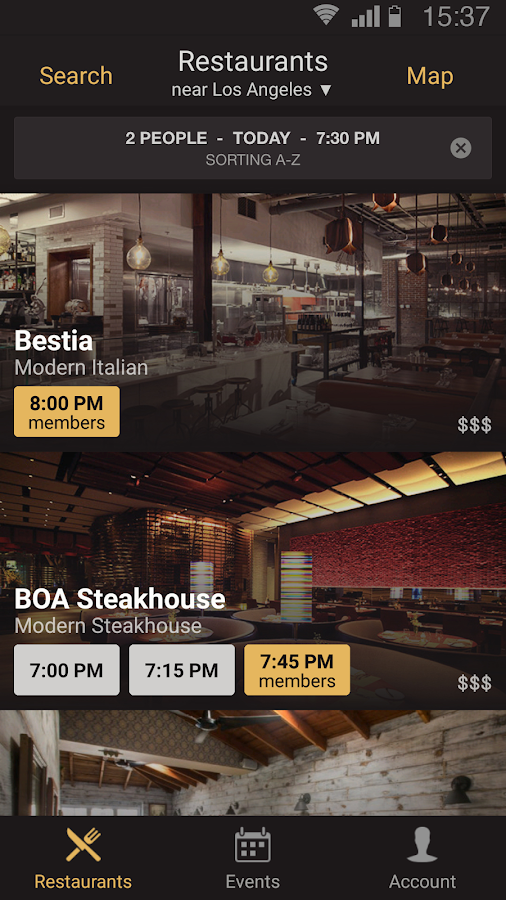 Table8 Restaurant Reservations- screenshot