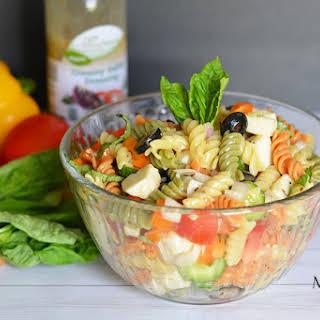 Creamy Italian Pasta Salad.