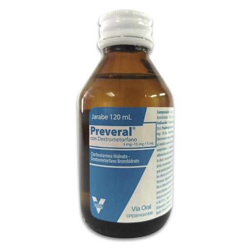 Dextrometorfano+Clorfeniramina Preveral 120Ml Vargas