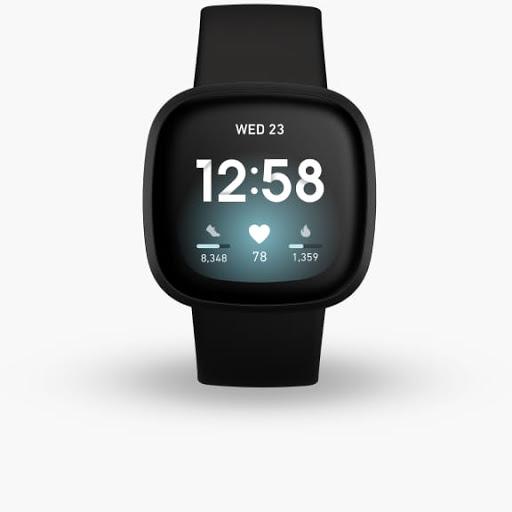 Fitbit Versa 3 in Black with Black Aluminium