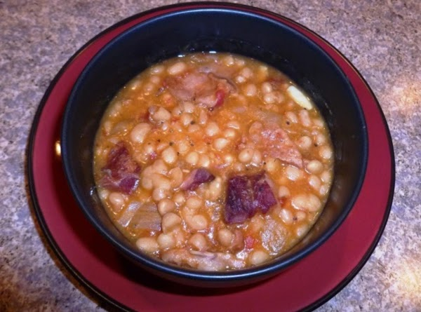 Crock Pot Navy Beans With Tomatoes And Tabasco Recipe
