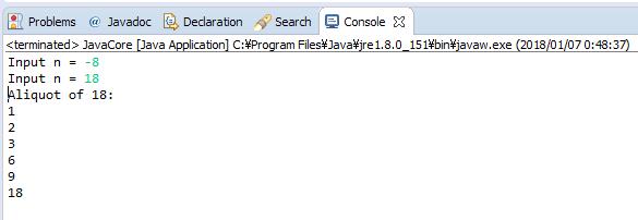 Java - Liệt kê tất cả các ước số của số nguyên dương n