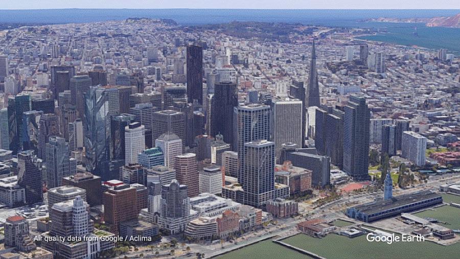 Luftaufnahme der Stadt San Francisco