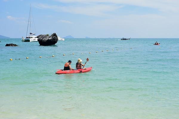 Paddle by kayak along the shoreline of Koh Hong