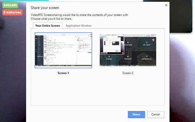 VideoRTC Screensharing