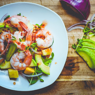 Sweet Chili-Ginger Shrimp with Avocado and Mango Recipe
