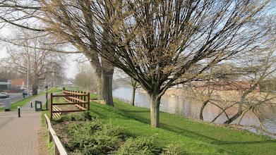 Photo: Wike and walking path along the river from City campus to St. John's campus