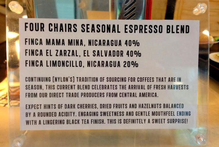 Four Chairs Seasonal Espresso Blend