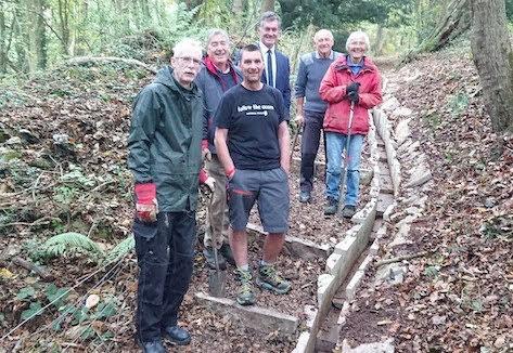 Volunteers improve Offa's Dyke