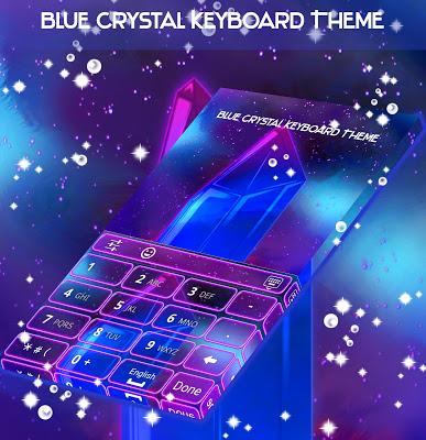 Blue Crystal Keyboard Theme - screenshot
