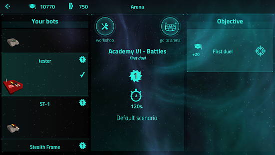 Scriptbots ARENA. Battle bots programming- screenshot thumbnail