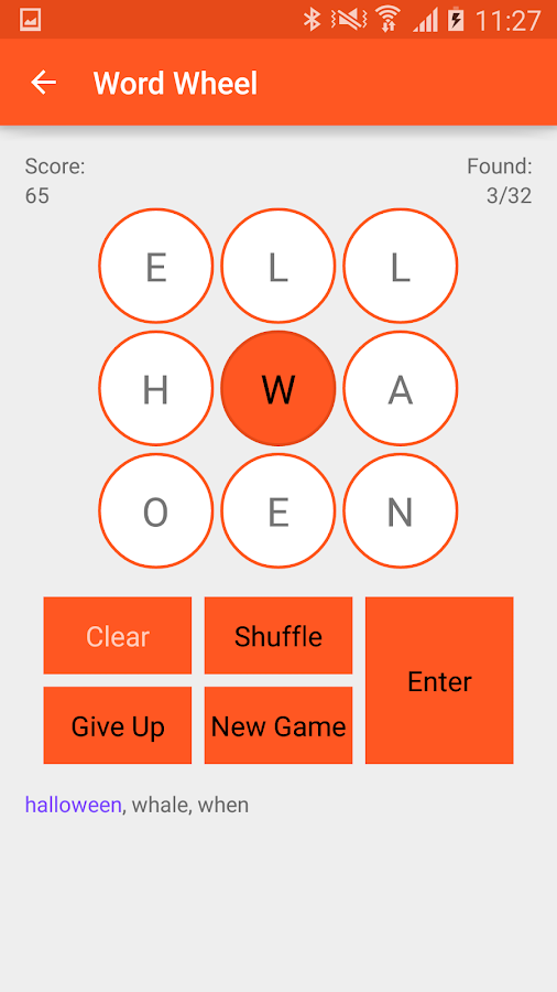 Word Wheel- screenshot