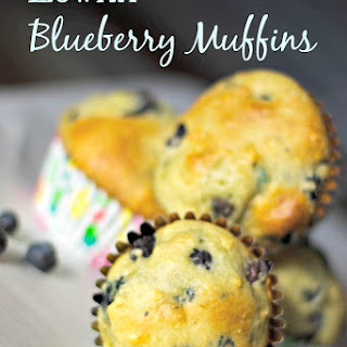 Low Fat Blueberry Muffins.