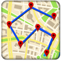Mobile Location Tracker on Map icon