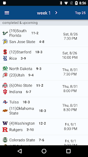 Sports Alerts - NCAA Football edition- screenshot thumbnail