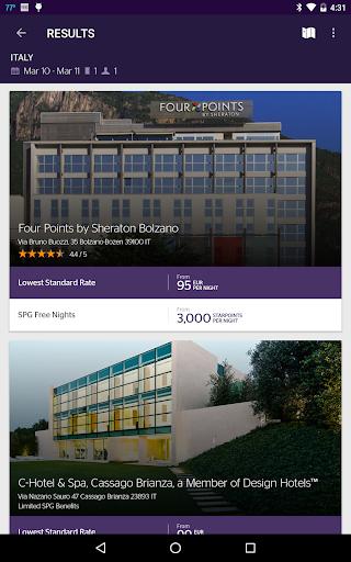 SPG: Starwood Hotels & Resorts  screenshots 11