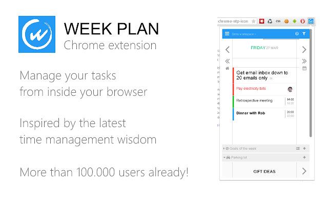 Week Plan extension