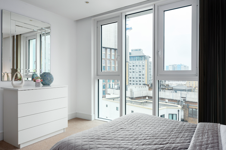 Cosy bed at Altitude Point Serviced Apartments, Aldgate