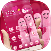 App Pink Finger Love Theme APK for Windows Phone