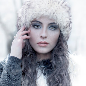 '' FROZEN II '' by Jessica Napolitano - People Portraits of Women ( winter, woman, white, women, portrait, photography )
