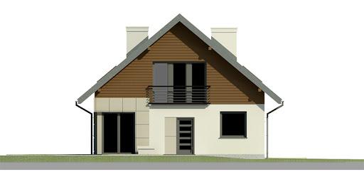 Dom przy Cyprysowej 3 - Elewacja przednia