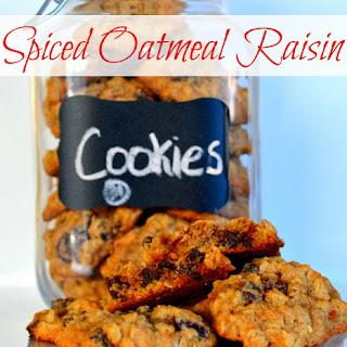 Spiced Oatmeal Raisin Cookies {Recipe}