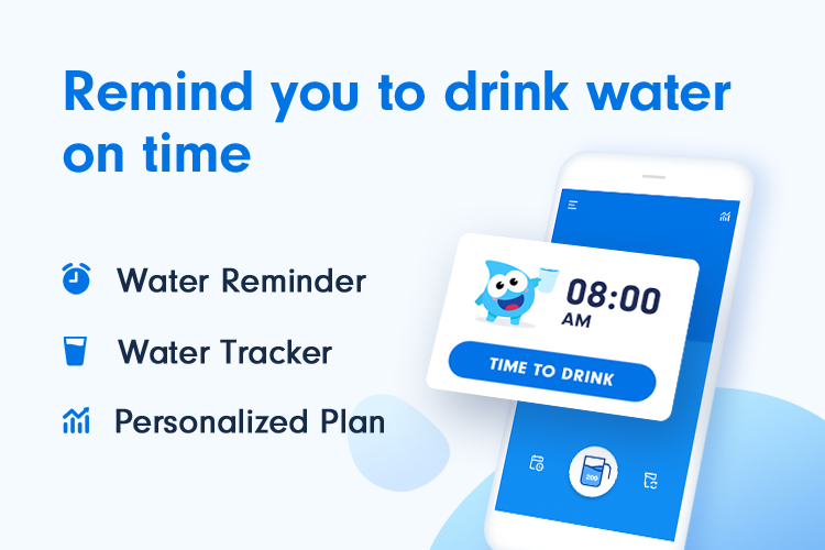 Water Tracker: Drink Water Reminder & Alarm Android App Screenshot