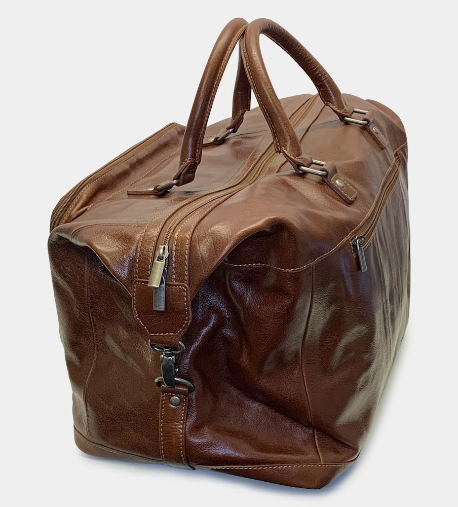 Elegant Weekendbag i Buffelskinn - Brun