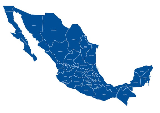 χάρτης Μεξικού