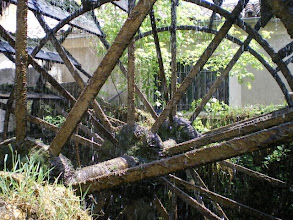 Photo: Water Wheels enabled milling and manufacturing in this village