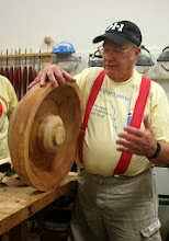 Photo: Bob also likes 'em big, as this bowl roughout testifies!  We'll see the finished bowl in months to come.