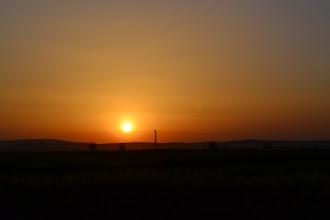 Photo: A view of Kobane at night