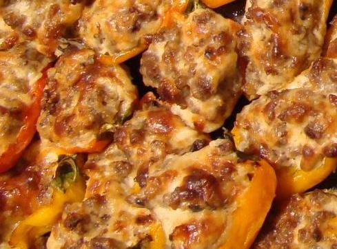 Stuffed Mini Sweet Peppers Recipe