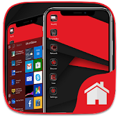 Red Theme For Computer Launcher