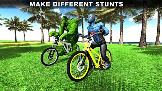 Offroad Superhero spider Bicycle: Downhill BMX - náhled
